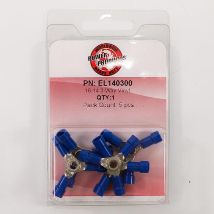 Power Products EL140300 - 3 Way Connector, Vinyl, 16 14 Awg Gauge