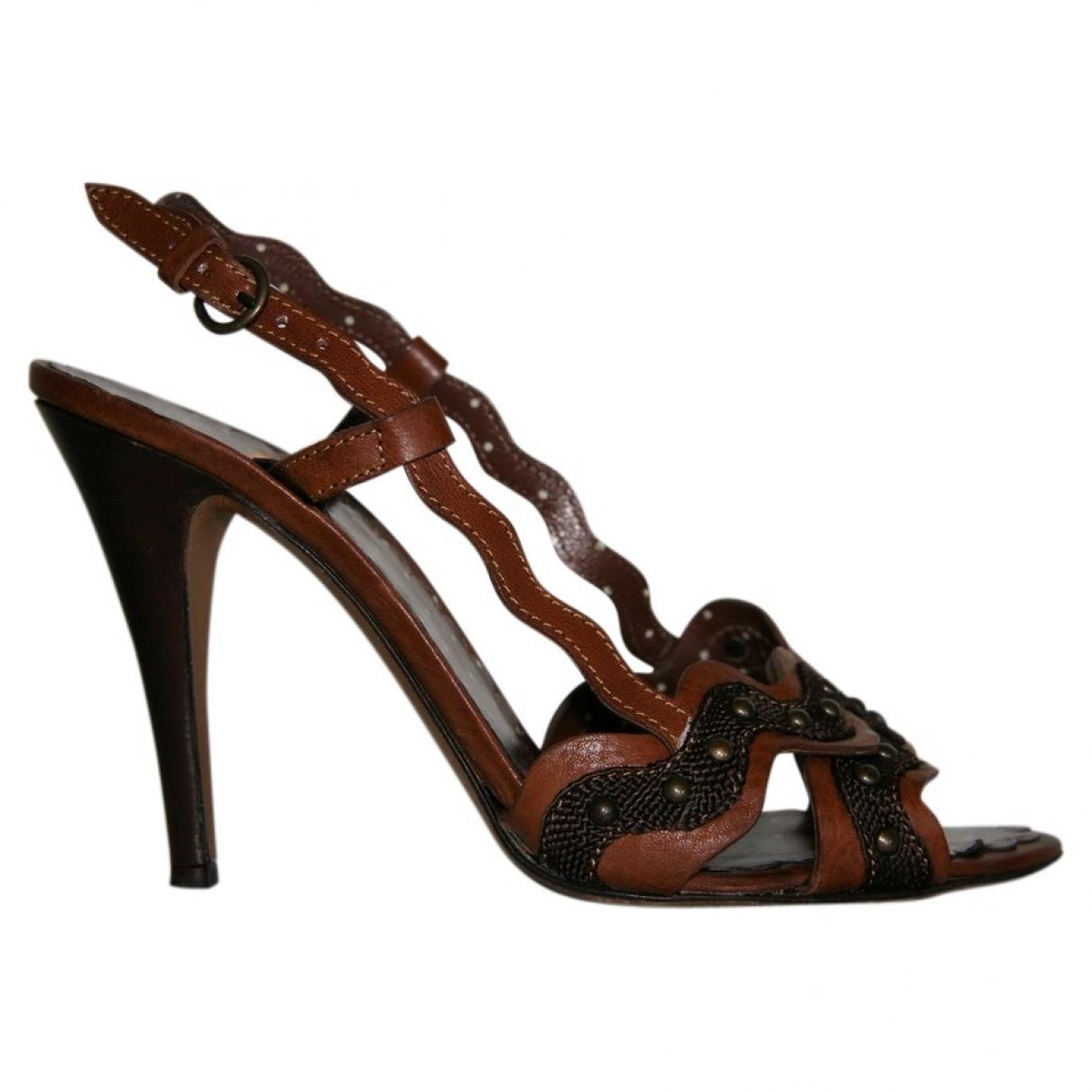 Sandalias romanas de Cuero Moschino Cheap And Chic
