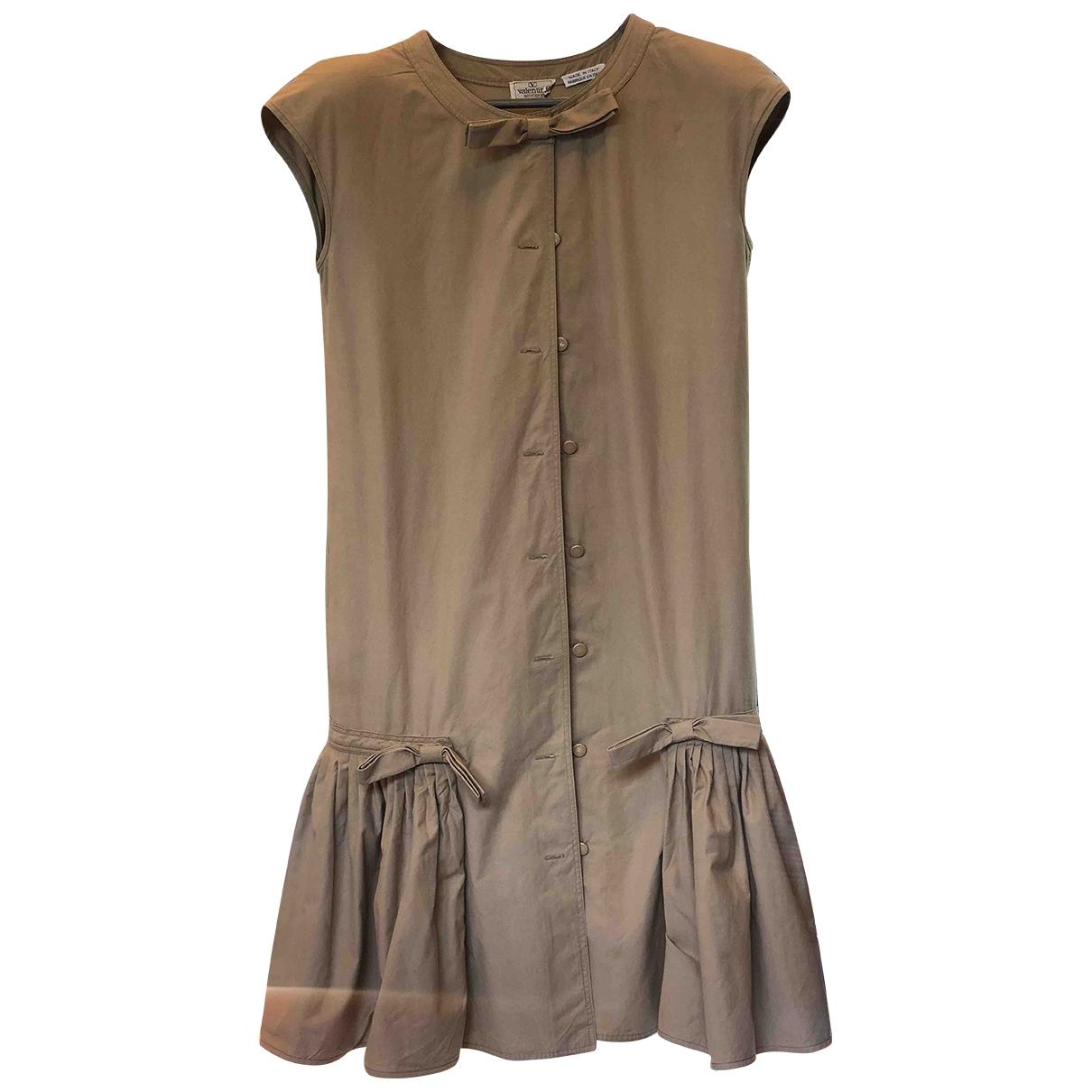 Valentino Garavani \N Brown Cotton dress for Women 42 IT