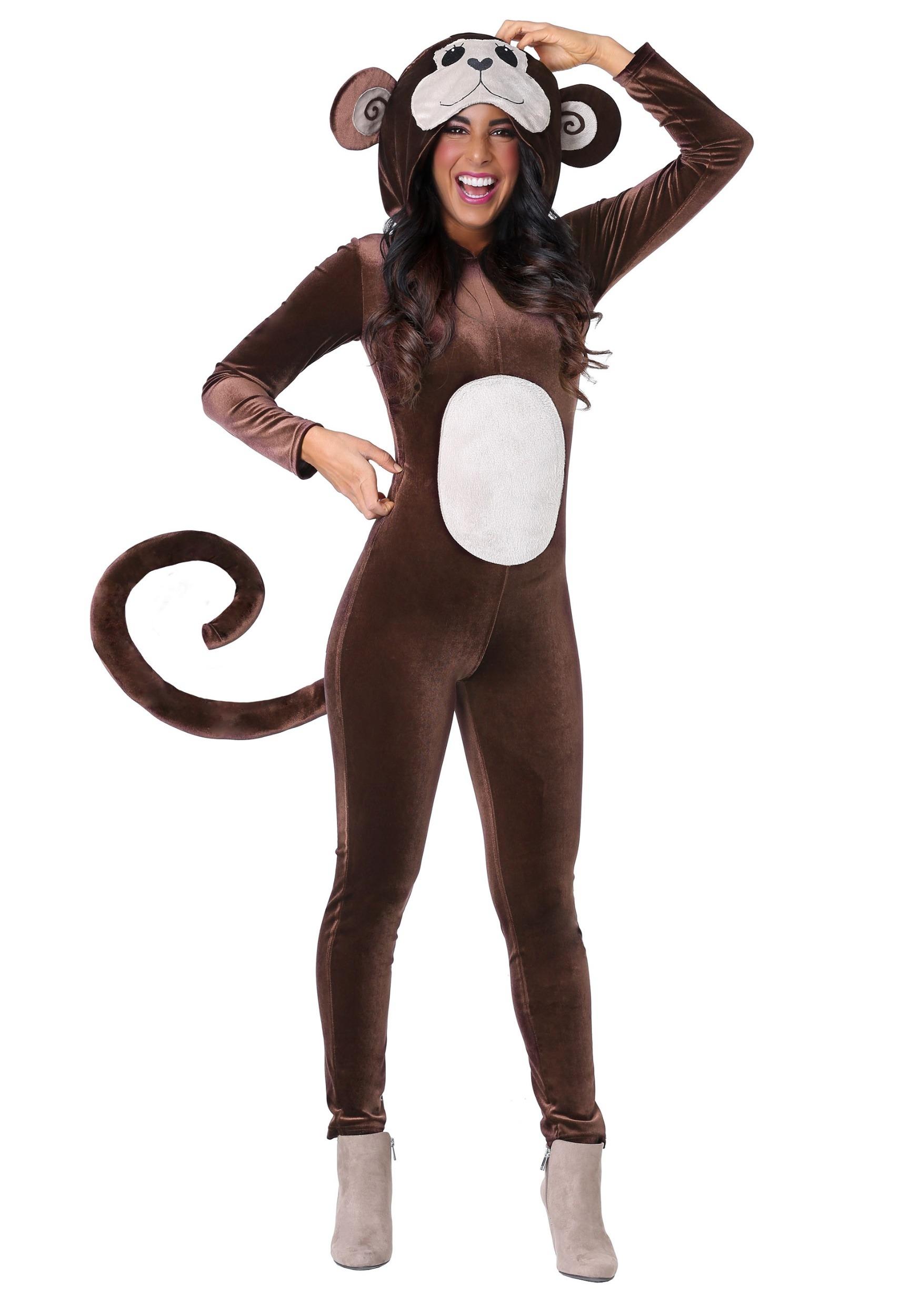 Jumpsuit Monkey Around Costume for Women | Animal Costume