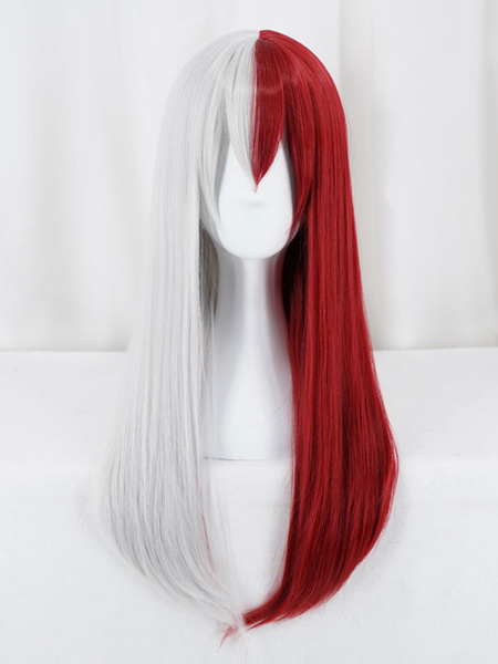 Milanoo Halloween Carnaval Boku No Hero Academia 2020 BNHA Cosplay Todoroki Shouto Female Version Peluca de Cosplay de Halloween