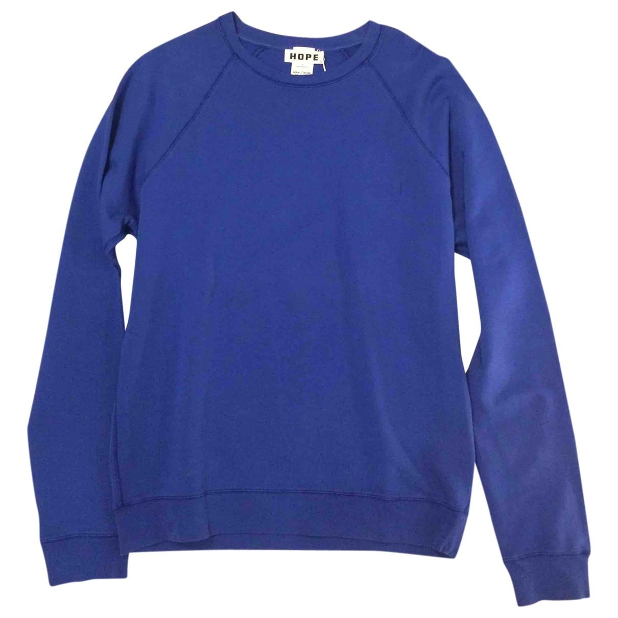 Hope \N Pullover.Westen.Sweatshirts  in  Blau Baumwolle