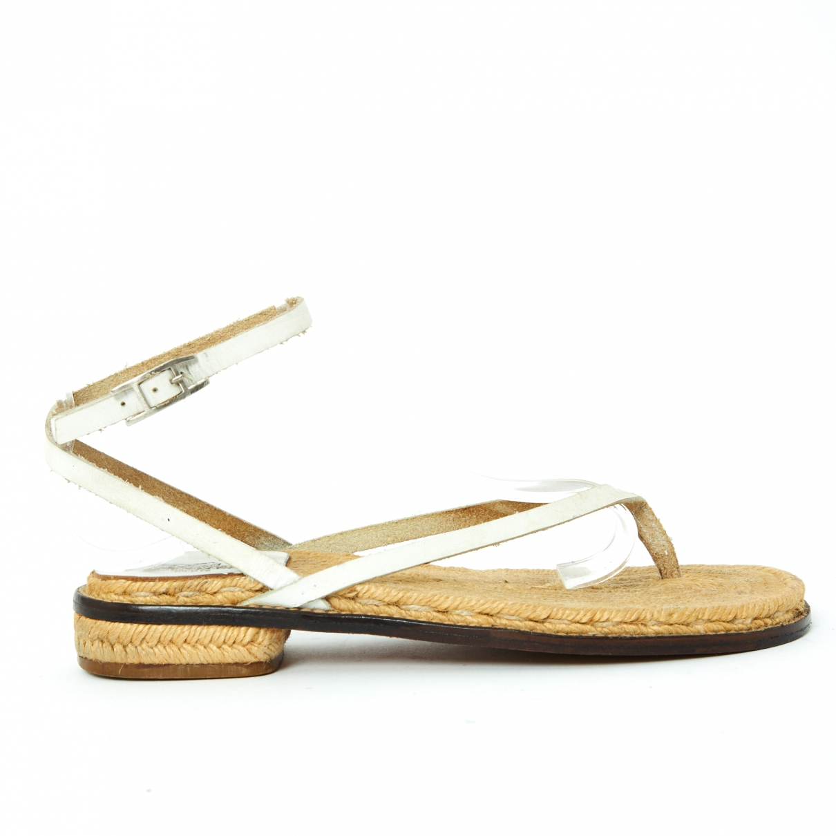 Hermès \N White Leather Sandals for Women 37 EU