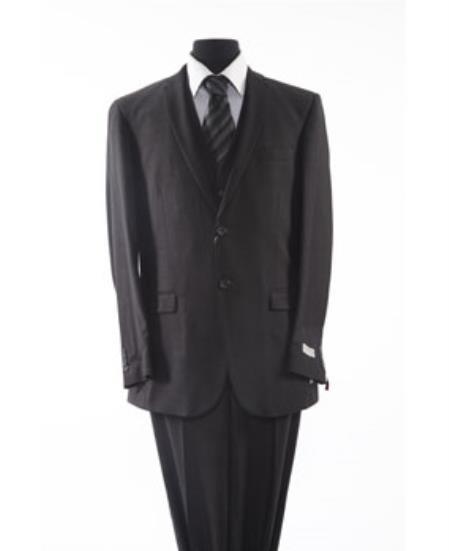 Mens Two Button 2 Piece Suit Grey