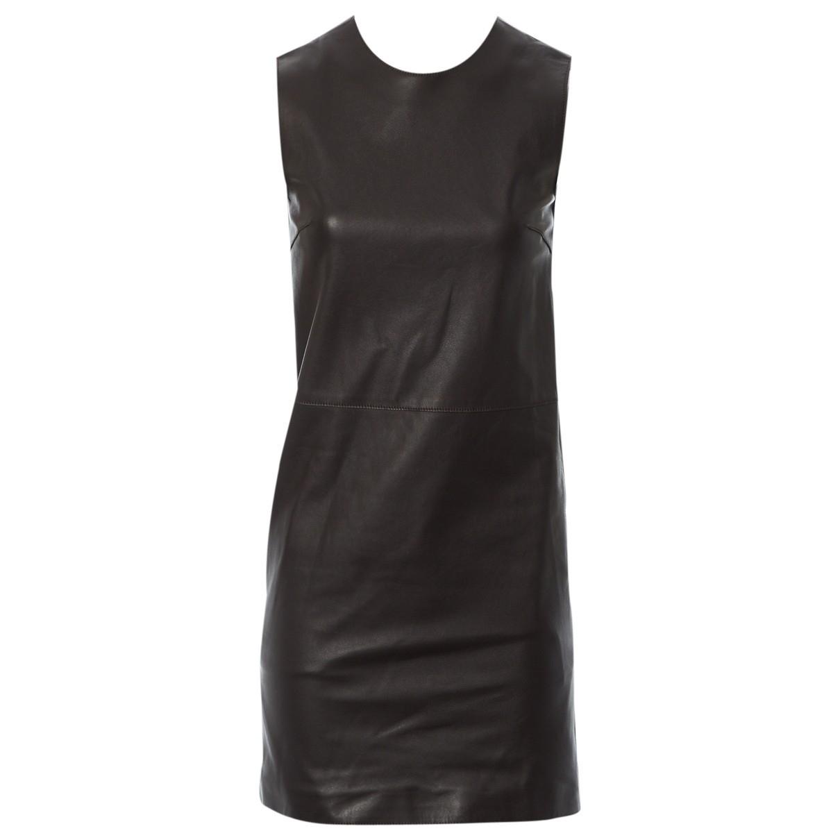 Calvin Klein Collection - Robe   pour femme en cuir - marron