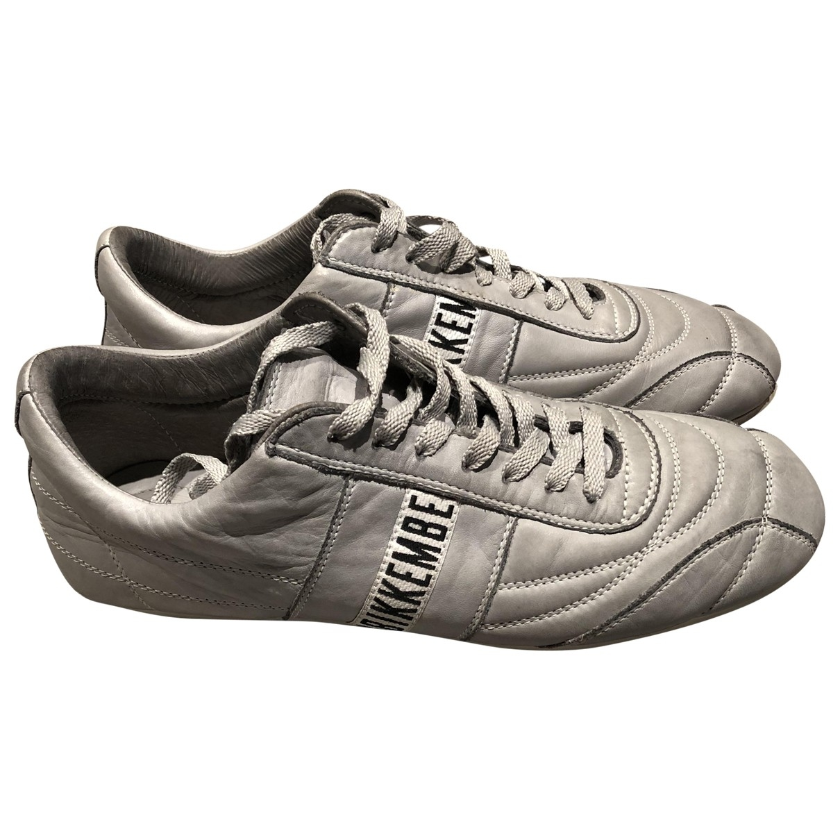 Dirk Bikkembergs - Baskets   pour homme en cuir - gris