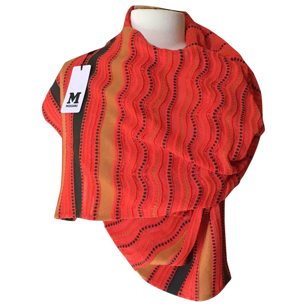 M Missoni \N Schal in  Orange Wolle