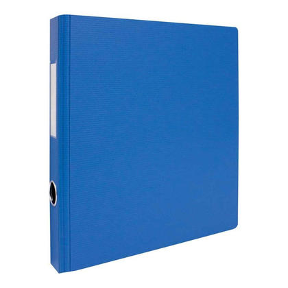 Geo 2'' D-Rings Binder with Hole and Label Holder - 8 Colours Available - Blue 266668