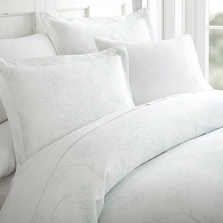 Casual Comfort Premium Ultra Soft Vine Pattern Duvet Cover Set, One Size , Blue