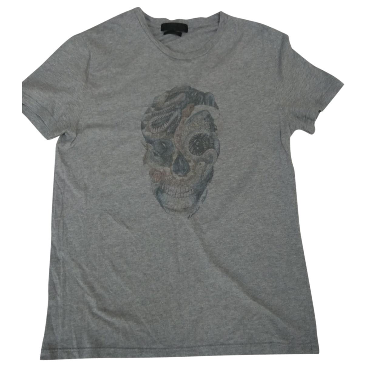 Alexander Mcqueen N Grey Cotton T-shirts for Men M International