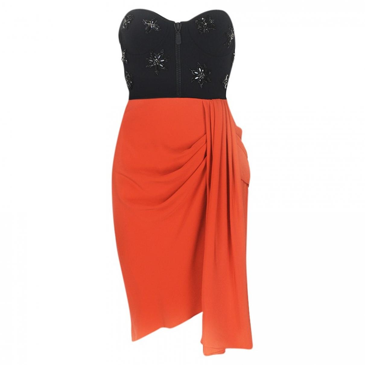 Emilio Pucci \N Kleid in  Orange Synthetik