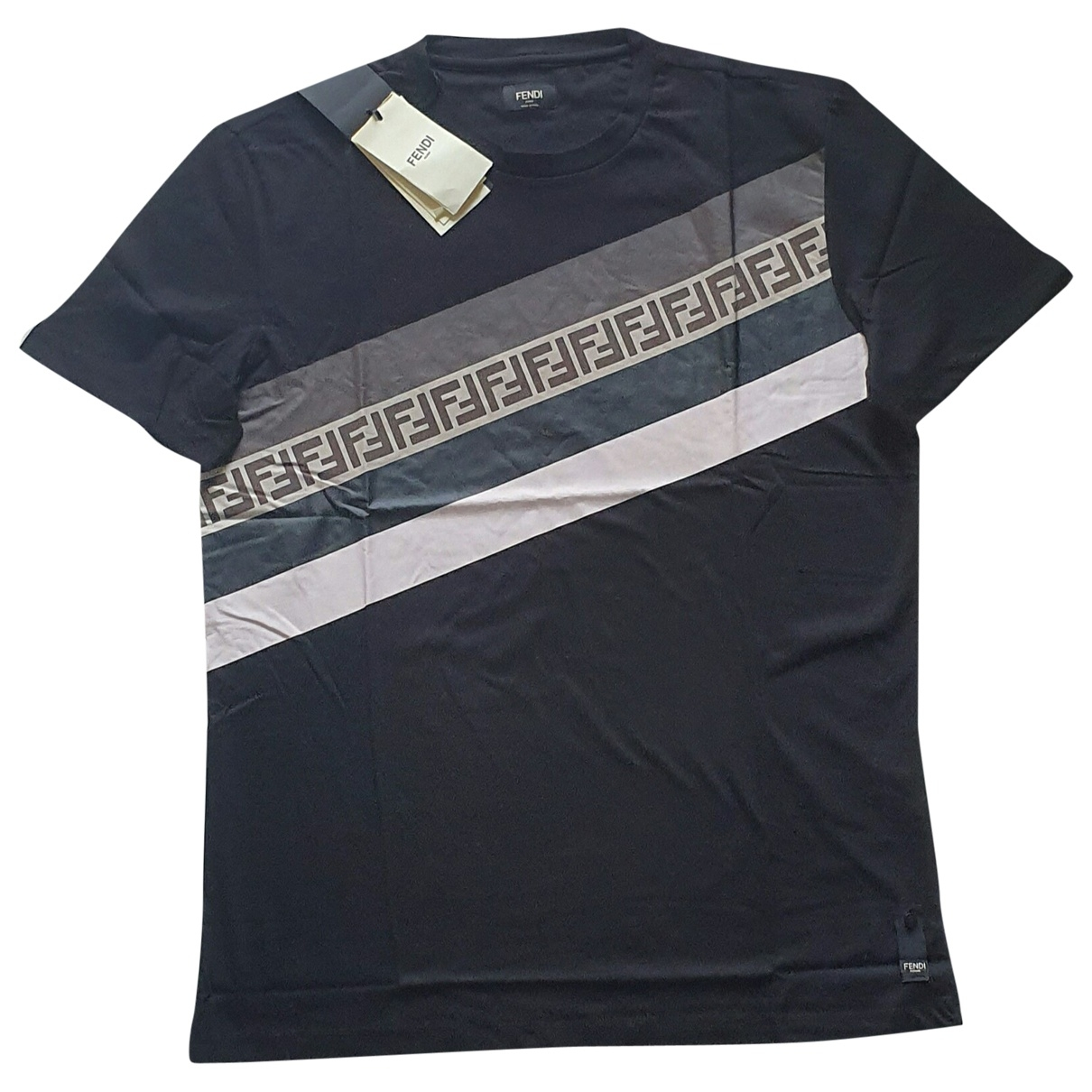 Fendi \N Black Cotton T-shirts for Men XXL International