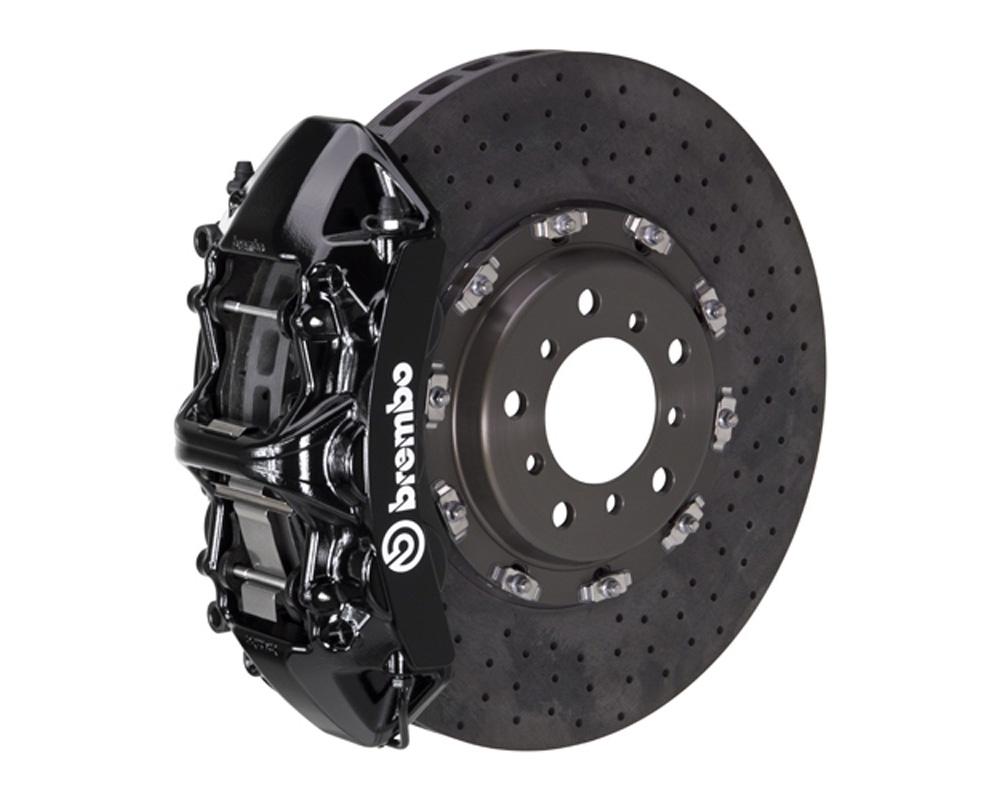 Brembo GT CCM-R 380x34 CCM-R 6 Piston Black Drilled Front Big Brake Kit