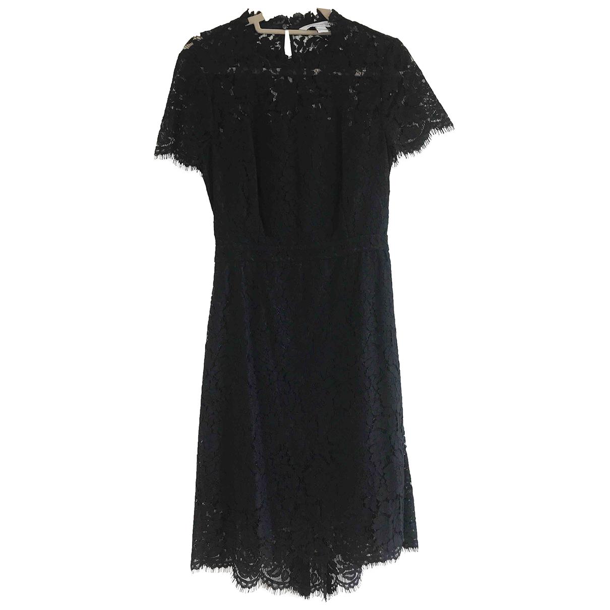 Diane Von Furstenberg \N Kleid in  Schwarz Spitze