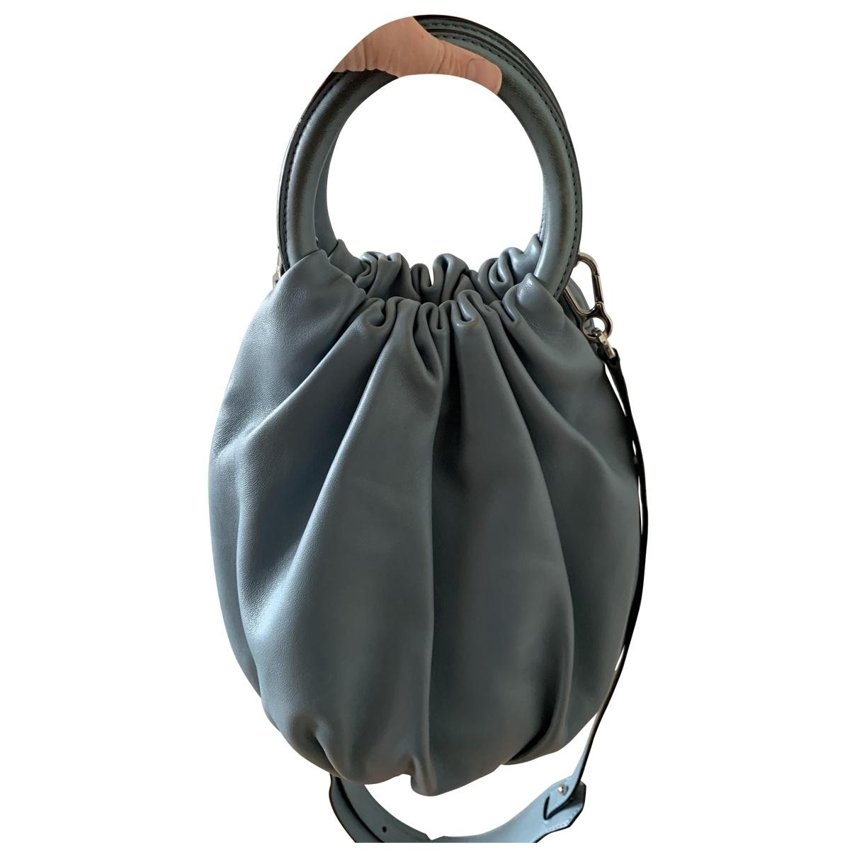 Loewe Bounce Bag Handtasche in  Blau Leder