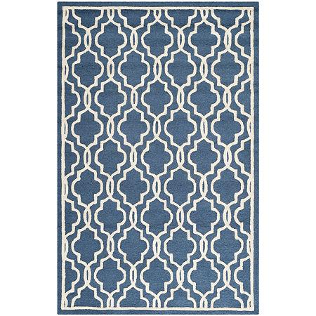 Safavieh Chester Quatrefoil Wool Area Rug, One Size , Blue