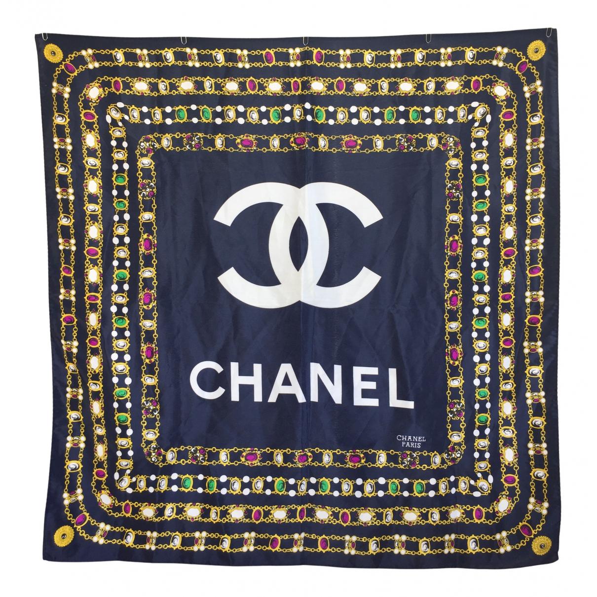 Chanel \N Schal in  Blau Polyester