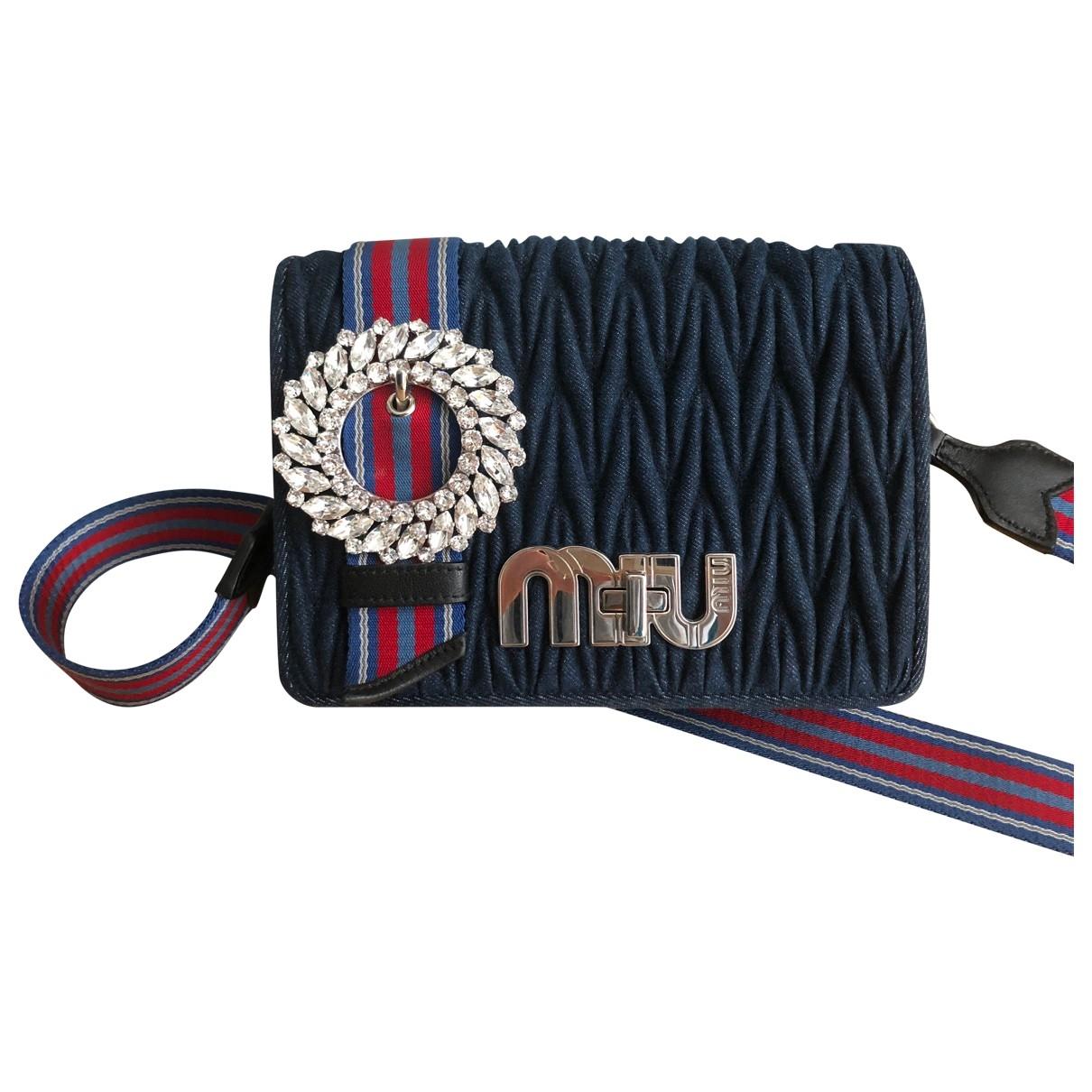 Miu Miu My Miu Handtasche in  Blau Denim - Jeans