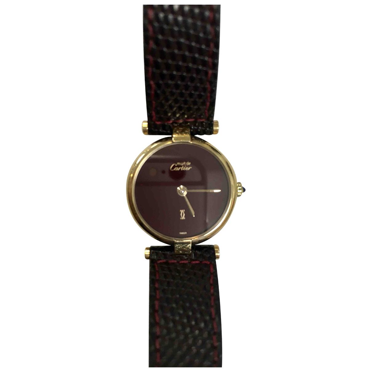 Cartier - Montre Must Vendome  pour femme en plaque or - dore