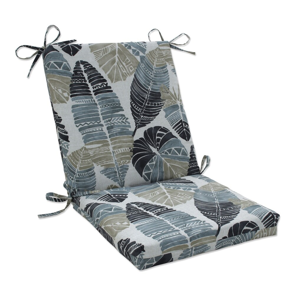 Pillow Perfect Outdoor | Indoor Hixon Stone Chair Cushion 36.5 X 18 X 3 (Black)