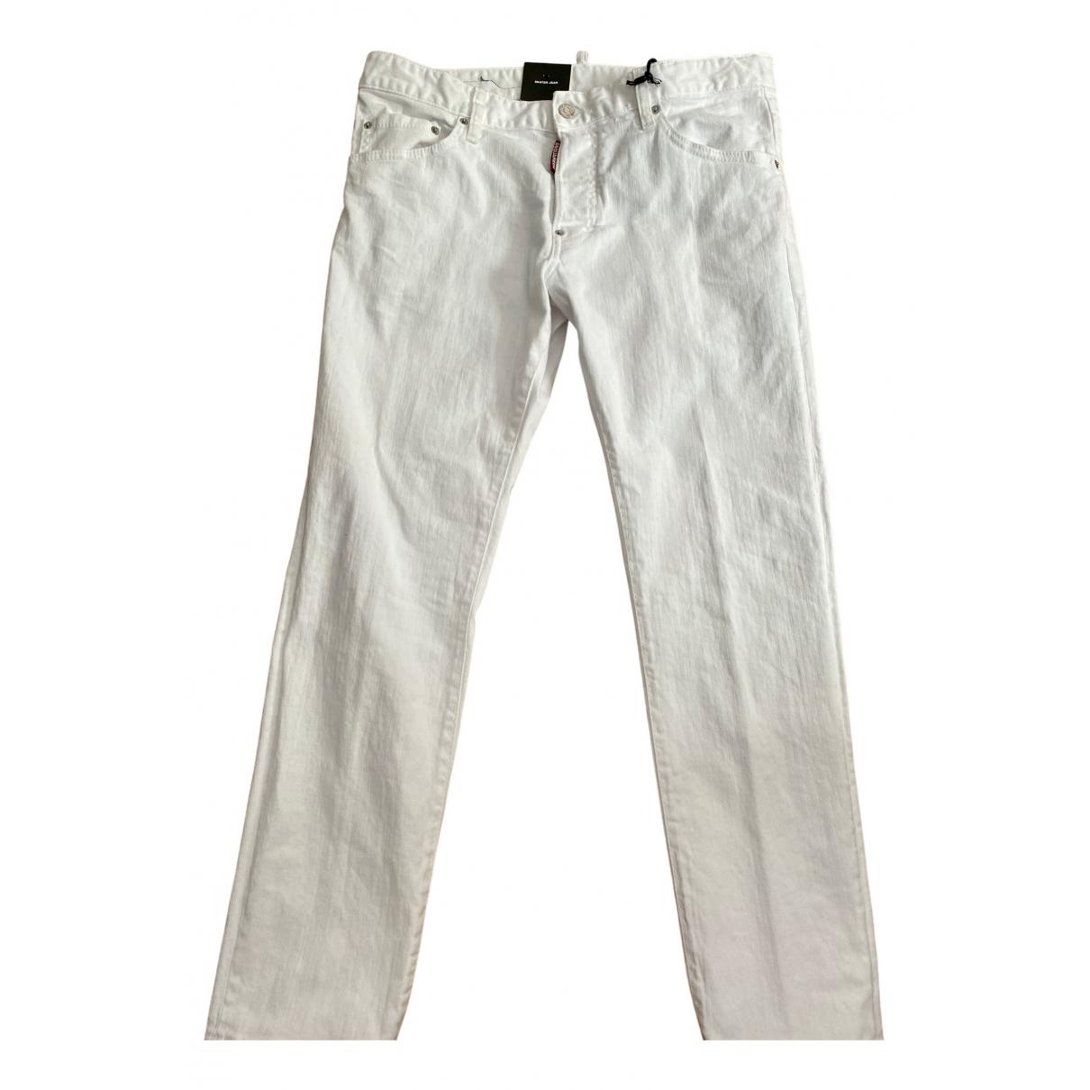Dsquared2 \N White Cotton Jeans for Men 40 - 42 FR