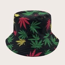 Maenner Hut mit Blatt Muster