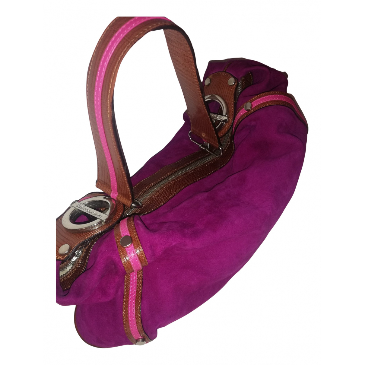 D&g \N Handtasche in  Bordeauxrot Fell