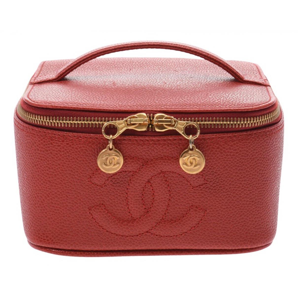 Chanel - Sac de voyage   pour femme en cuir - rouge