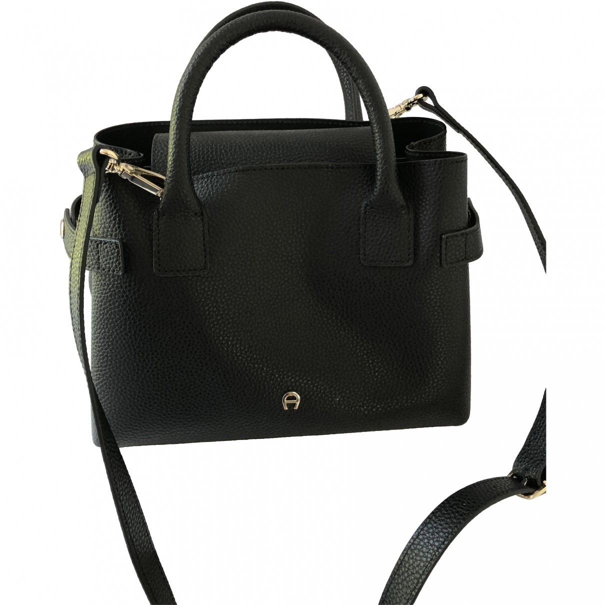 Aigner \N Black Leather handbag for Women \N
