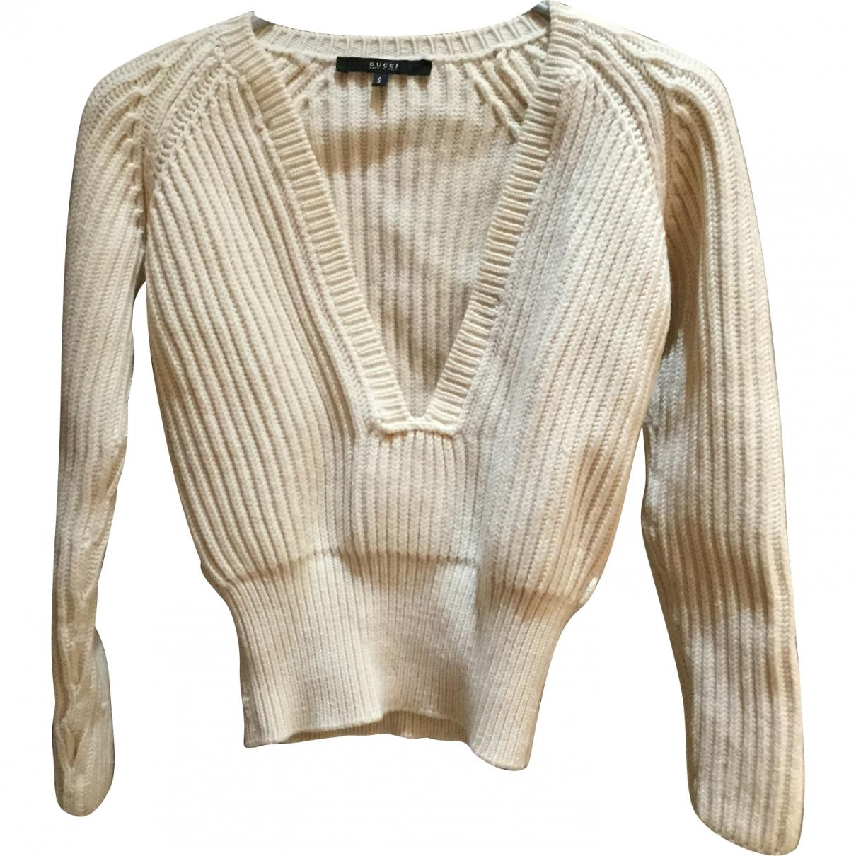 Gucci \N Beige Wool Knitwear for Women S International