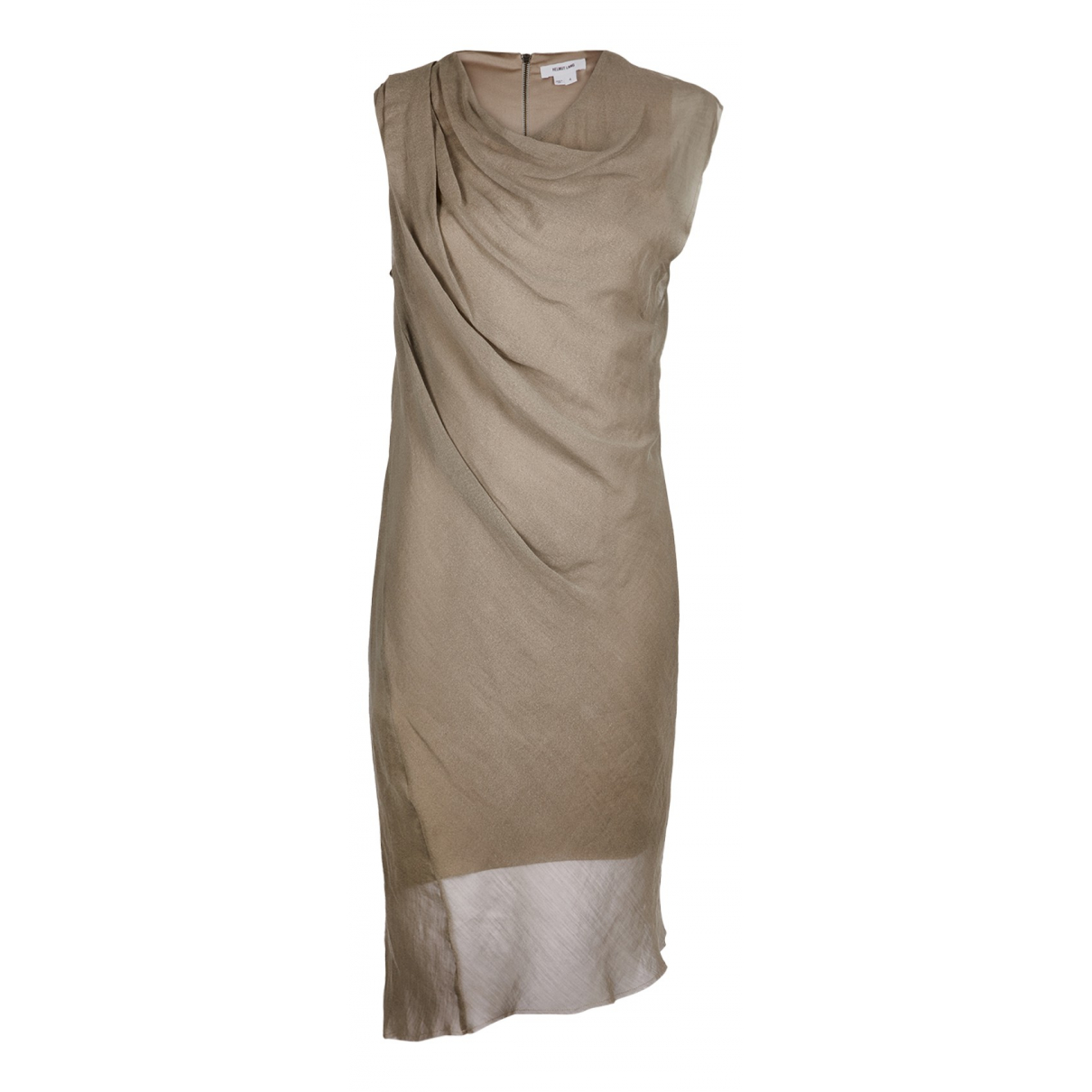 Helmut Lang \N Kleid in  Beige Synthetik