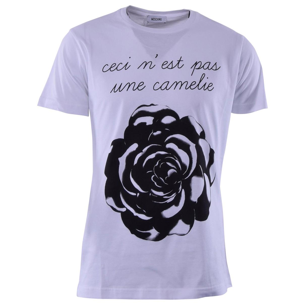 Moschino \N White Cotton T-shirts for Men L International