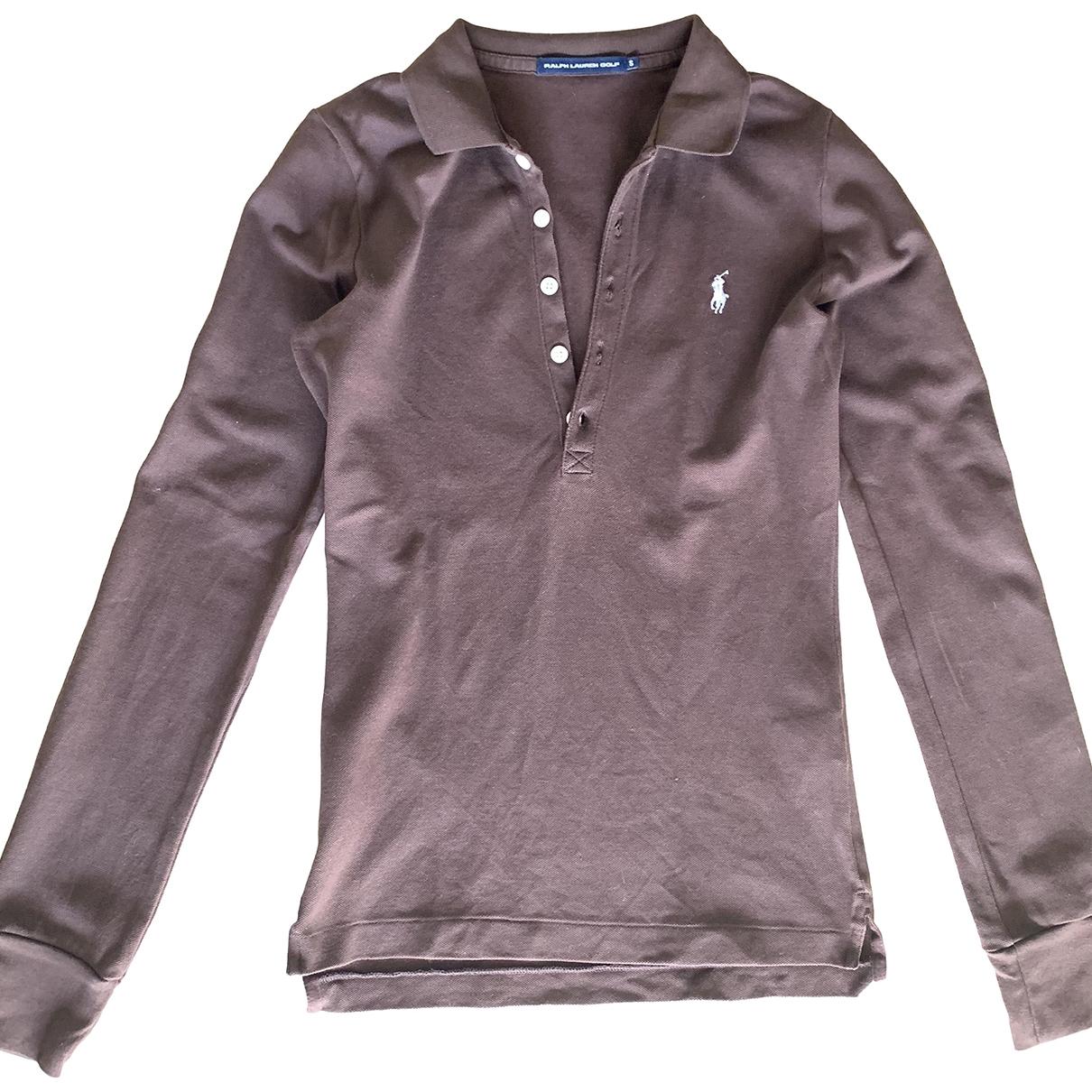 Polo Ralph Lauren \N Brown Cotton  top for Women S International
