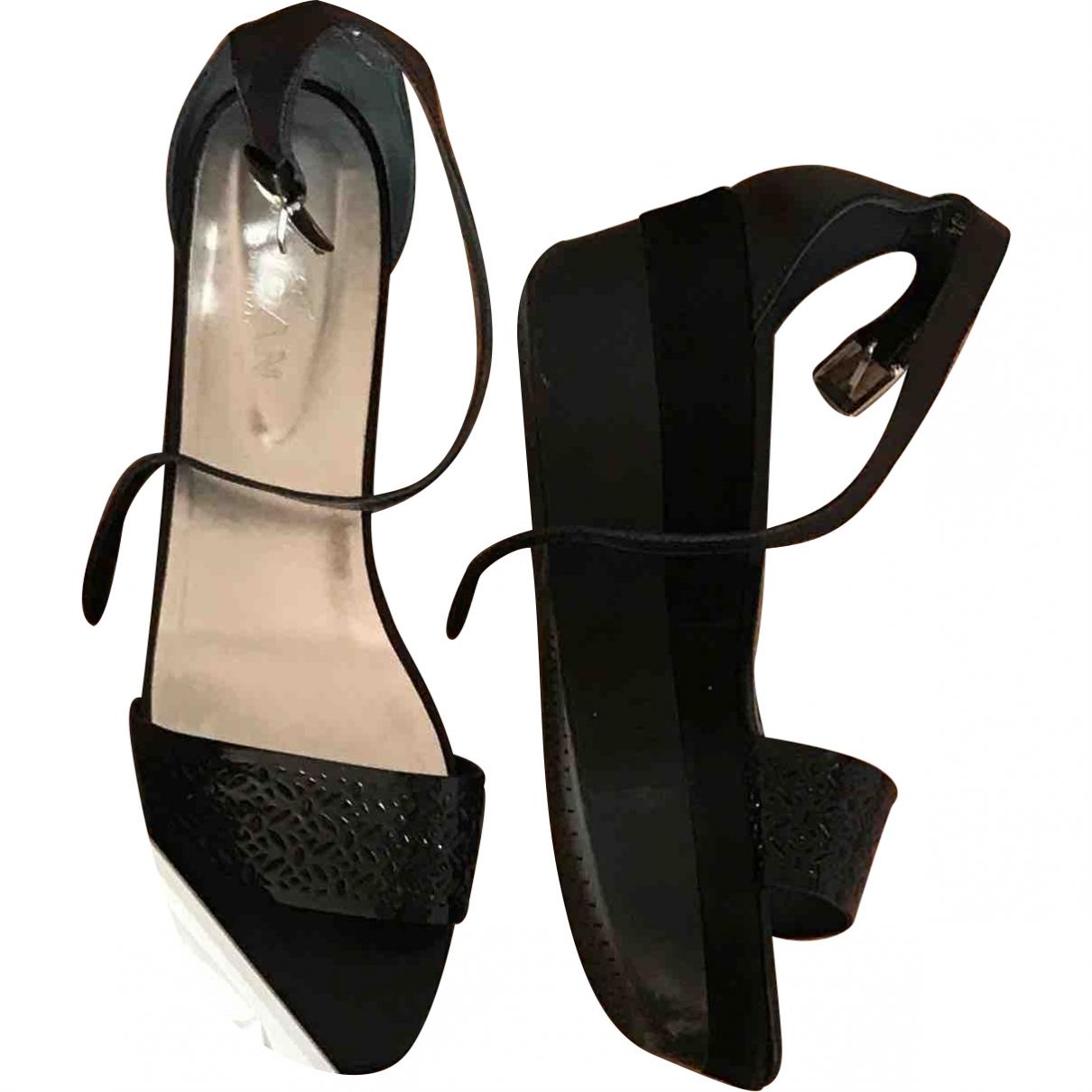 Hogan \N Black Leather Lace ups for Women 40.5 EU
