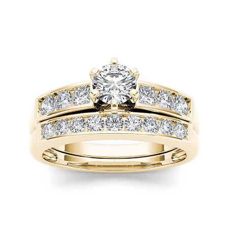 1 CT. T.W. Diamond 14K Yellow Gold Bridal Ring Set, 8 1/2 , No Color Family