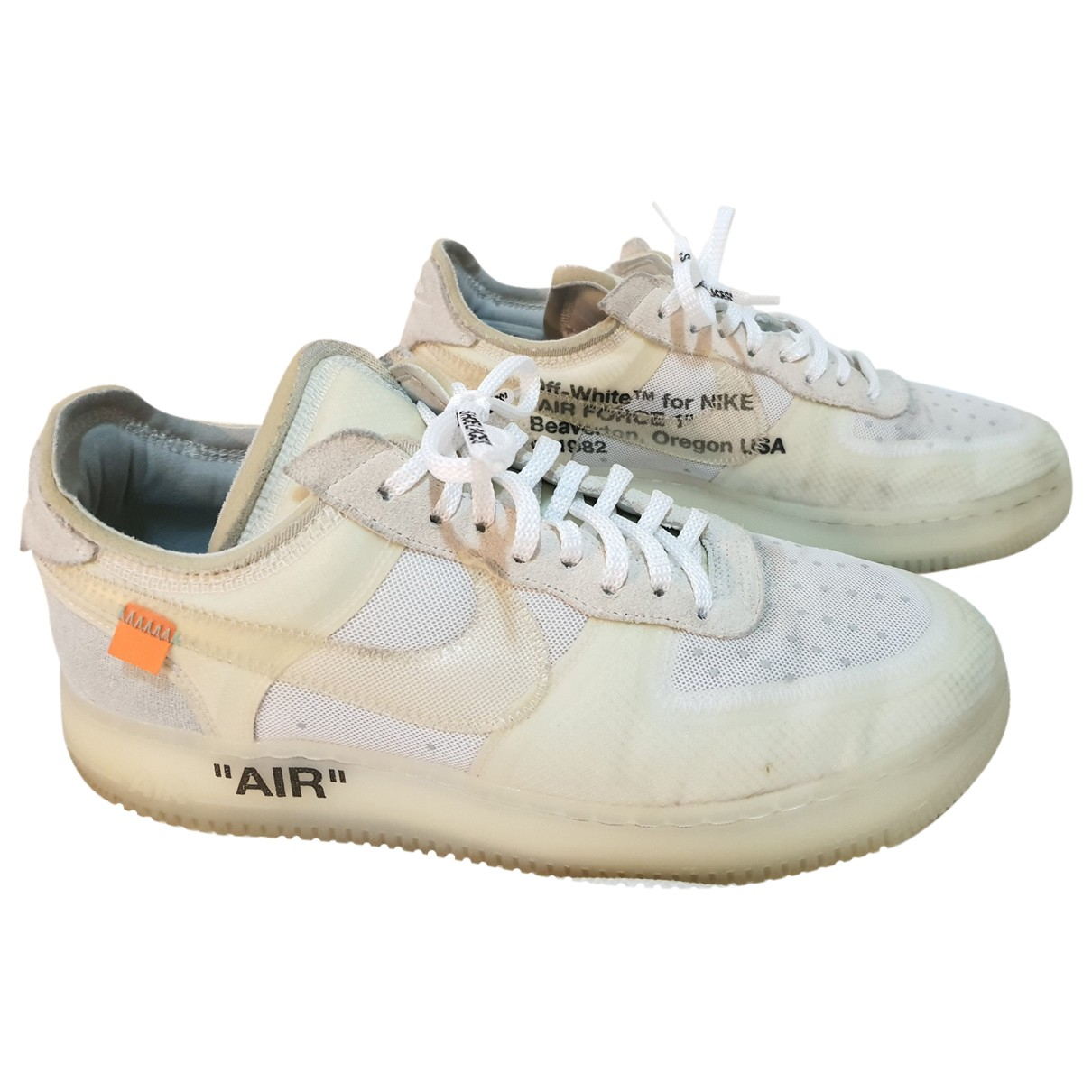 Nike X Off-white Air Force 1 Sneakers in  Weiss Polyester