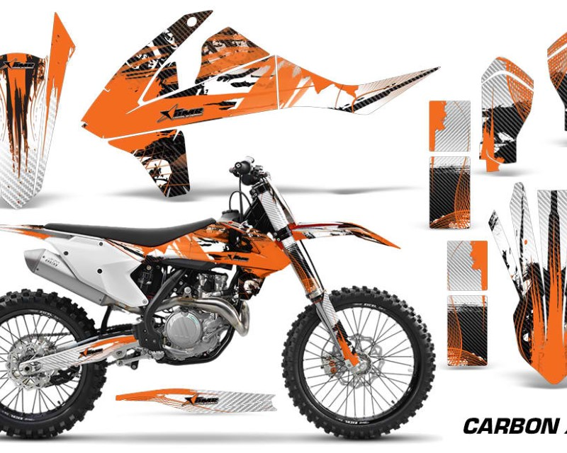 AMR Racing Dirt Bike Decal Graphic Kit Wrap For KTM SX SXF XCF 250/350/450 2016+áCARBONX ORANGE