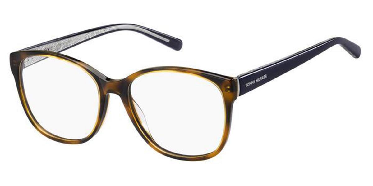 Tommy Hilfiger TH 1780 086 Women's Glasses Tortoise Size 54 - Free Lenses - HSA/FSA Insurance - Blue Light Block Available