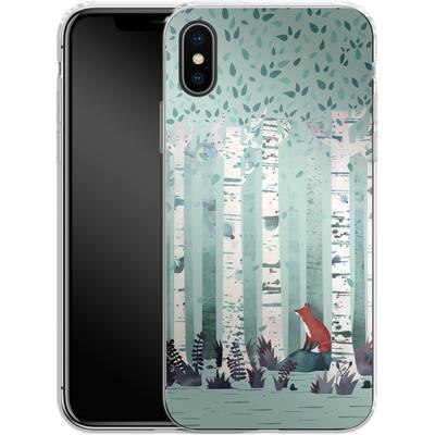 Apple iPhone X Silikon Handyhuelle - Birches von Little Clyde