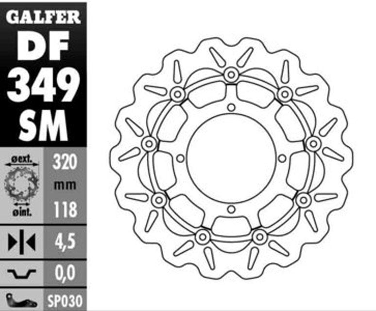 Galfer Front Brake Disc SUZUKI RMX 450 Z