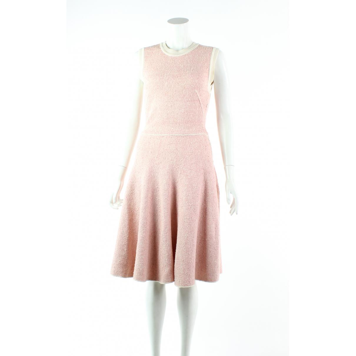Louis Vuitton \N Kleid in  Rosa Seide