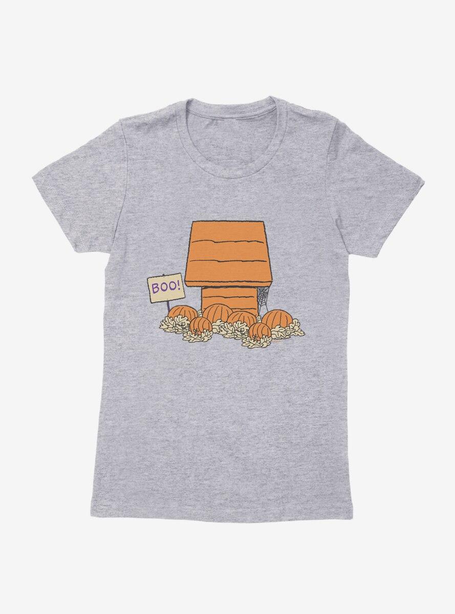 Peanuts Snoopy Halloween Boo House Womens T-Shirt