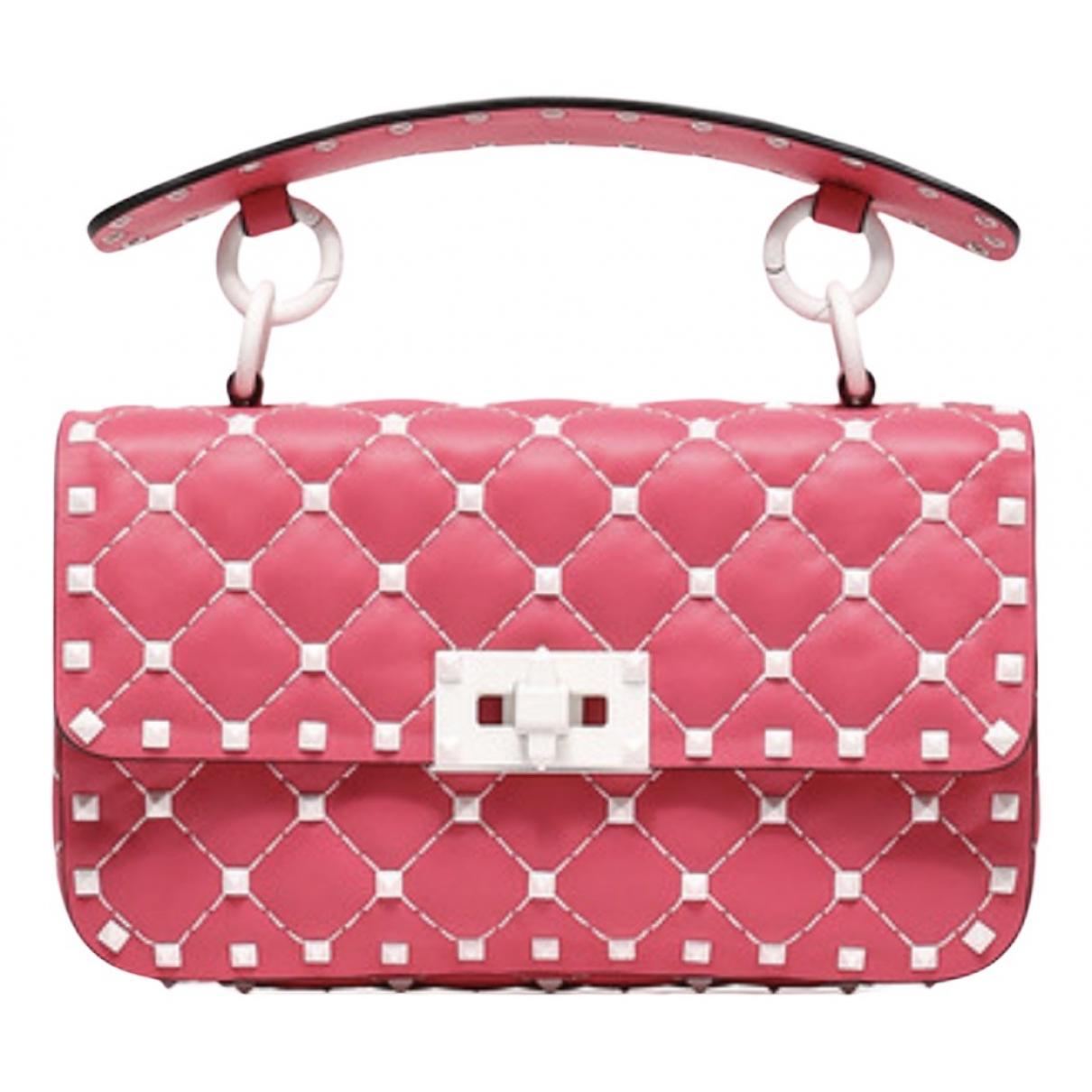 Valentino Garavani Rockstud spike Pink Leather handbag for Women N
