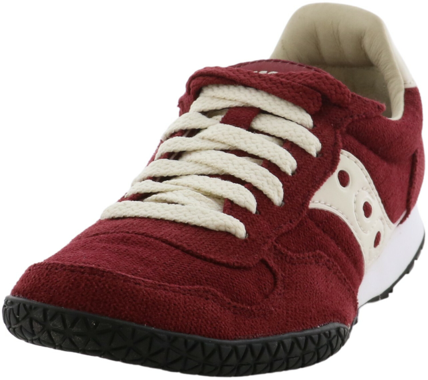 Saucony Women's Bullet Maroon Low Top Leather Sneaker - 5.5M
