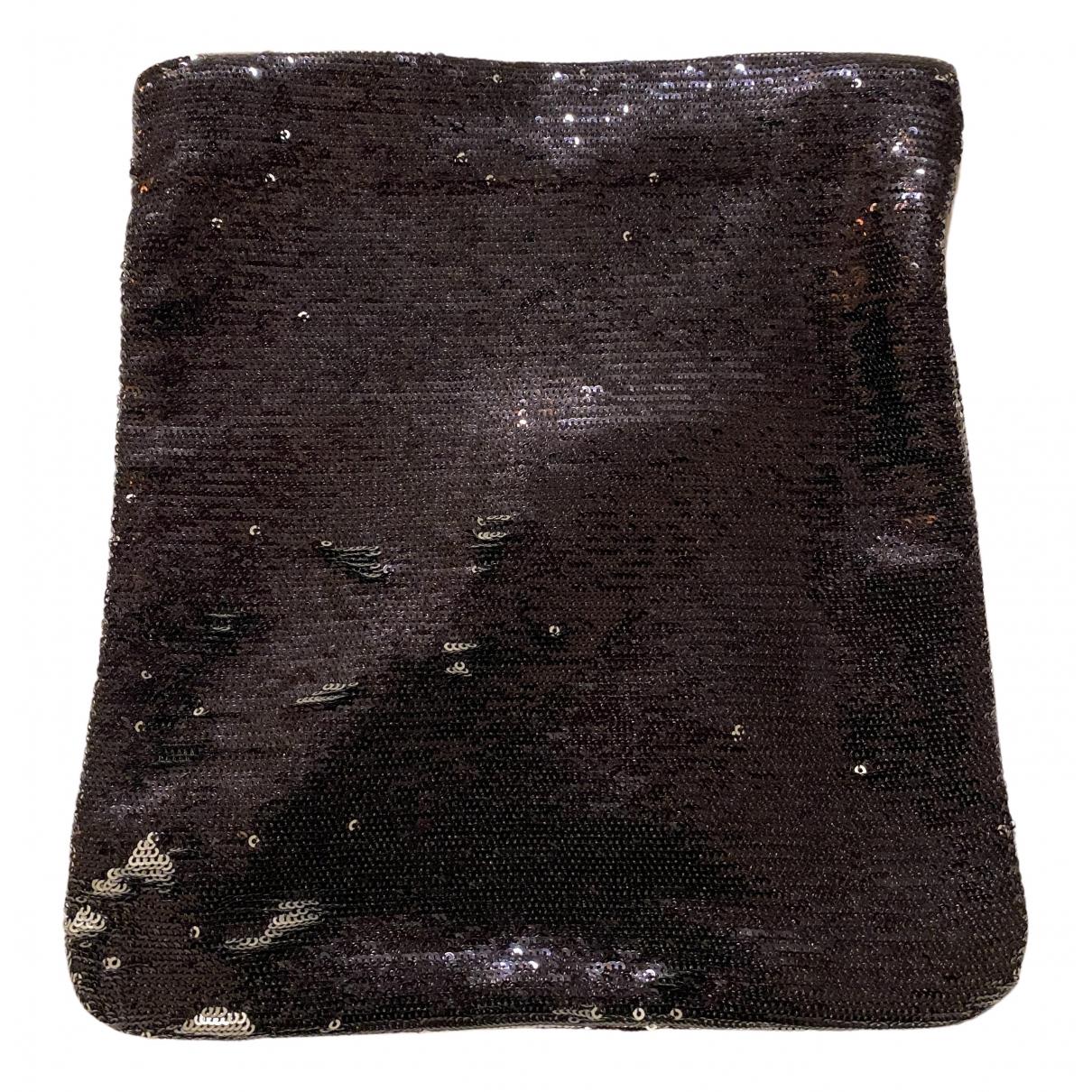Maje - Pochette   pour femme en a paillettes - noir