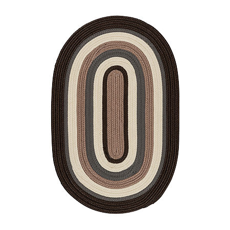 Colonial Mills Morrison Braided Oval Reversible Indoor/Outdoor Rugs, One Size , Brown
