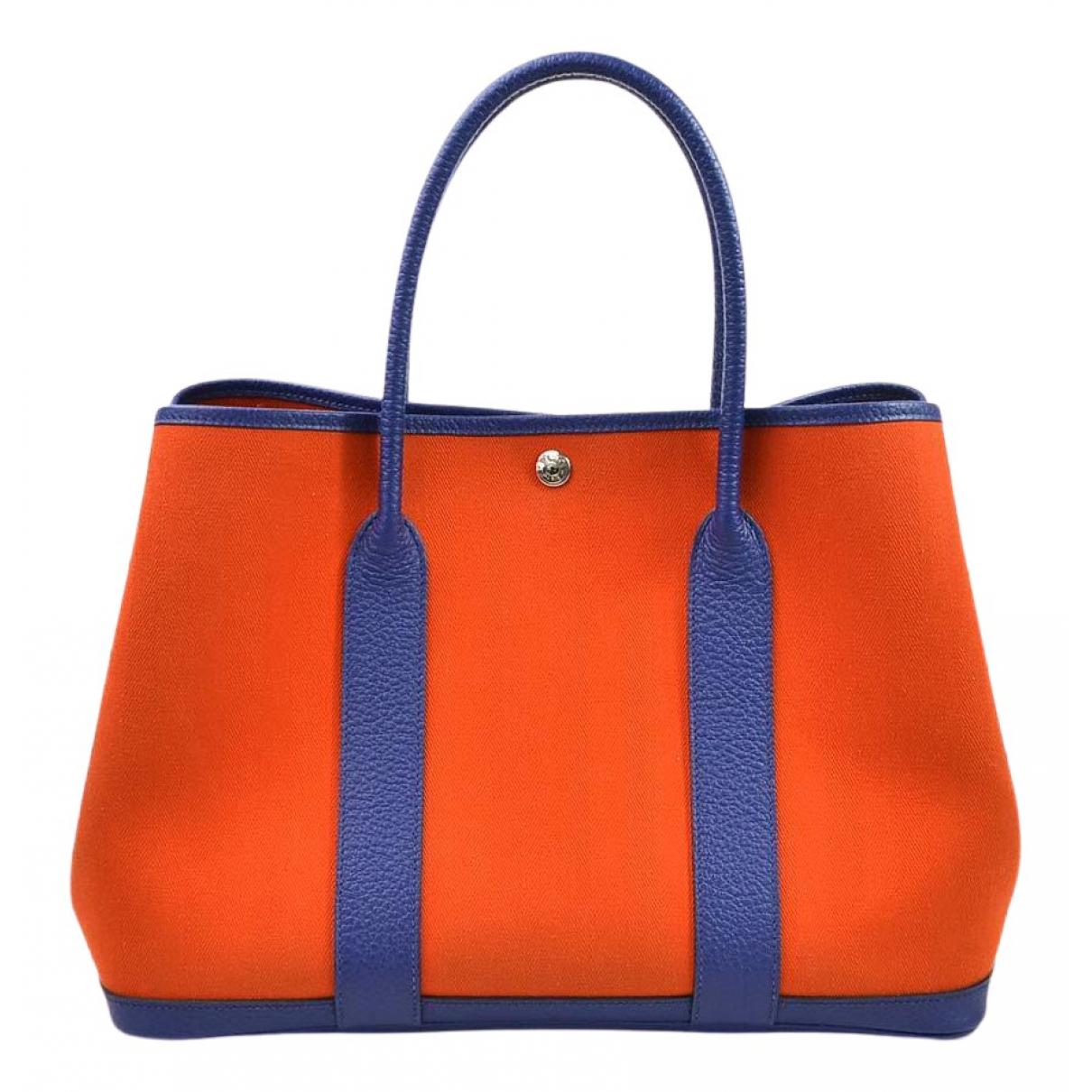 Hermes - Sac a main Garden Party pour femme en cuir - orange