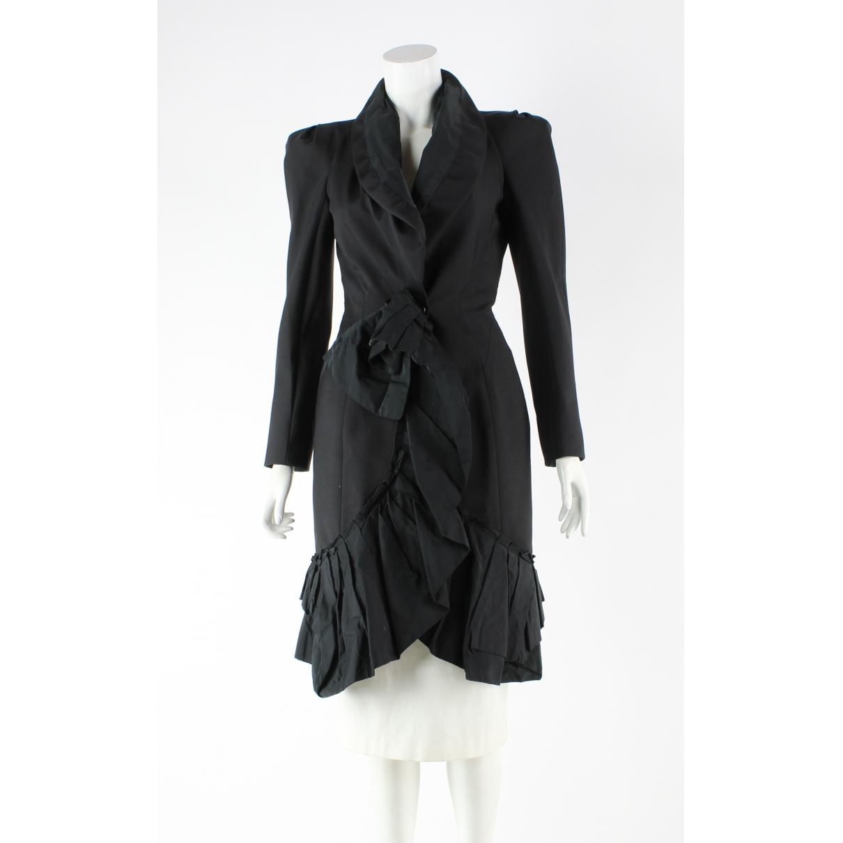 Louis Vuitton - Manteau   pour femme en laine - noir