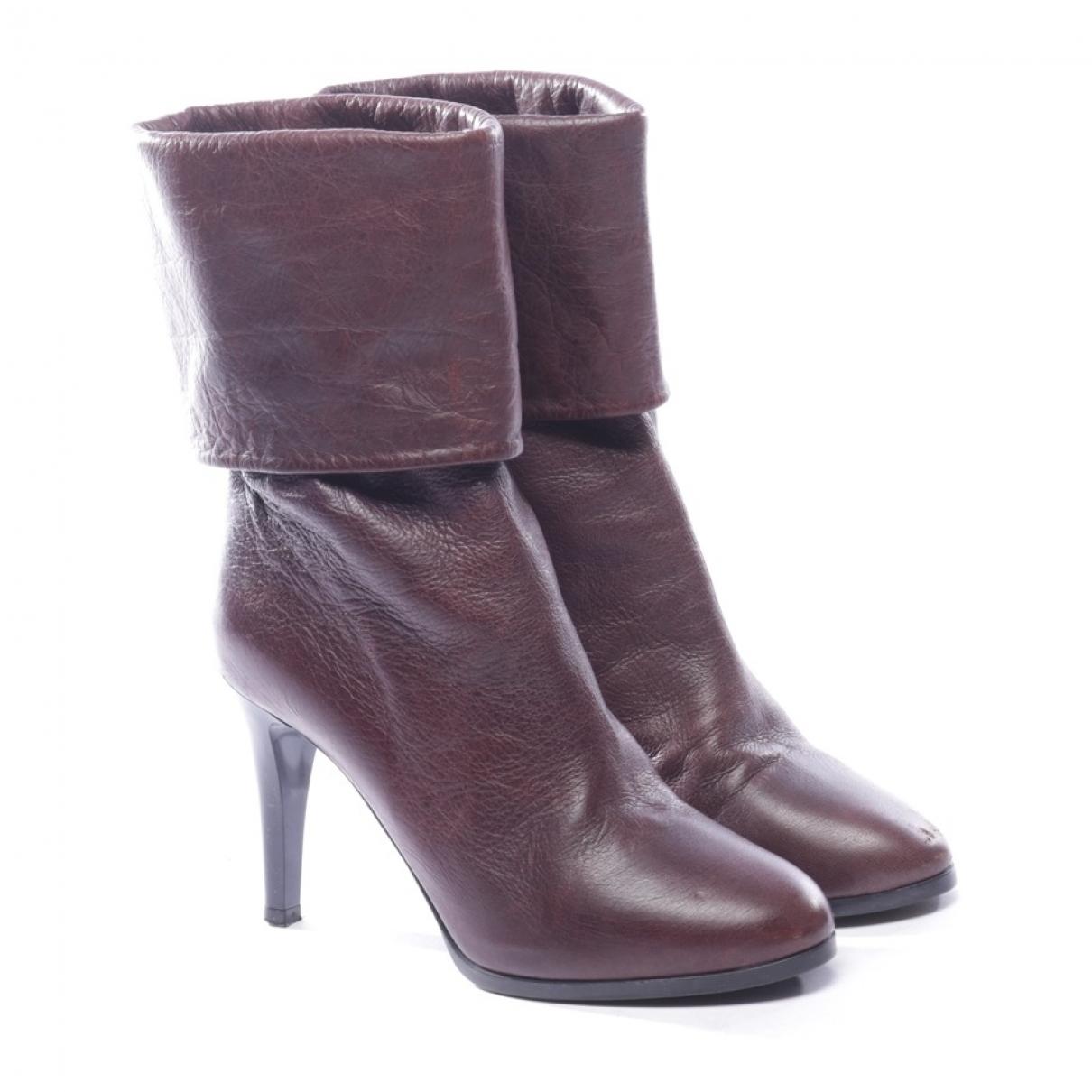 Chloe - Boots   pour femme en cuir - violet