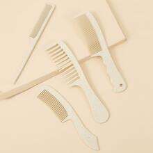 4pcs Solid Hair Comb